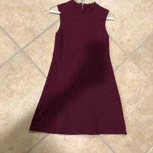 Cute high neck mini dress